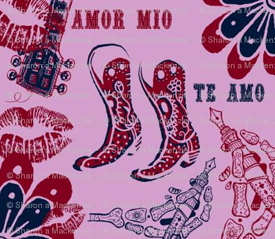 Te Amo navy/orchid/burg theme
