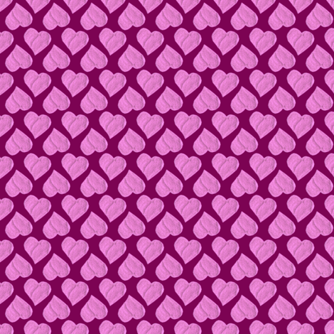 Sweethearts Party Cloth on Ripe Plum fabric by rhondadesigns on Spoonflower - custom fabric