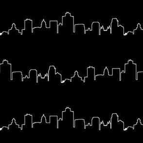 Salt Lake City Outline // Black