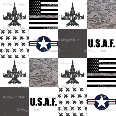 "6"" Air Force Faux Quilt"
