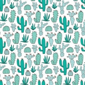 Cactus in Mint,Green & Blue Smaller 1,5 inch