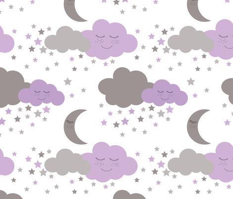 clouds_sleeping_purple-04 fabric by adrine on Spoonflower - custom fabric