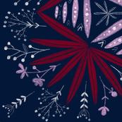 Midnight fern - Navy