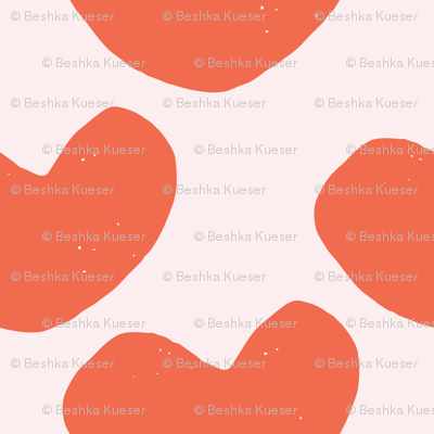 Stamped Abstract Hearts // Orange on Pink