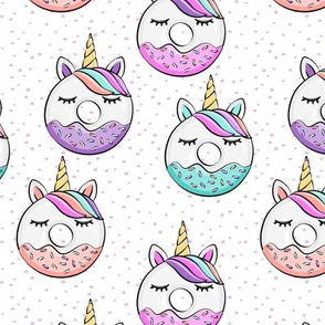 unicorn donuts on purple spots
