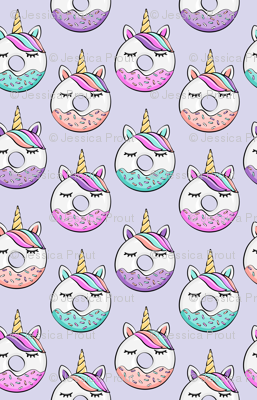 (small scale) unicorn donuts (light purple)