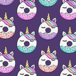 unicorn donuts - dark purple