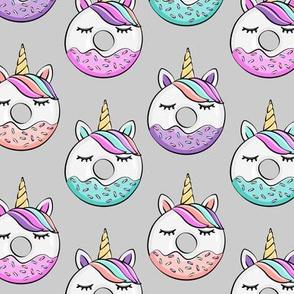 unicorn donuts on grey