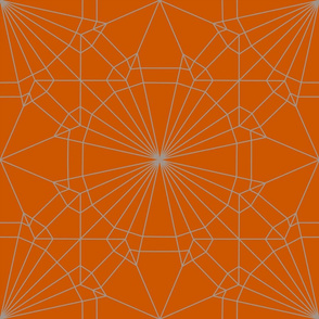 deconstructed origami crane origami crane_nude on orange