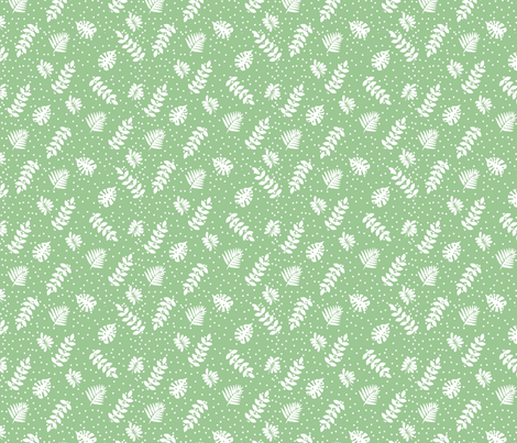 white_floral_vintage_green-01 fabric by adrine on Spoonflower - custom fabric