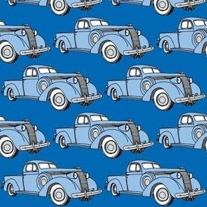 blue 1937 Studebaker pick up truck
