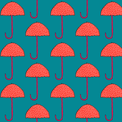 Colorful Polka Dot Umbrellas