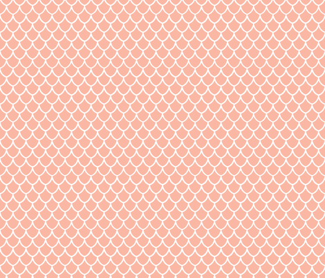 light coral mermaid scales fabric by ivieclothco on Spoonflower - custom fabric