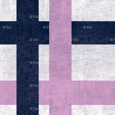 Retro Plaid - Orchid/Navy
