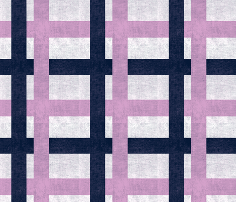 Retro Plaid - Orchid/Navy fabric by eto on Spoonflower - custom fabric