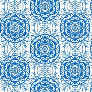 Blue Dream Flowers on White - Small Scale