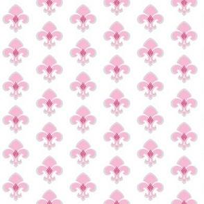 Fleur de Lis SMALL 133 - gray white pink