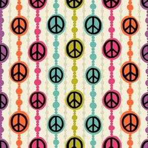 Peace Signs Beaded Curtain