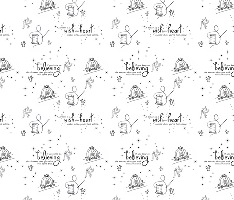 Cinderella fabric by btheone on Spoonflower - custom fabric
