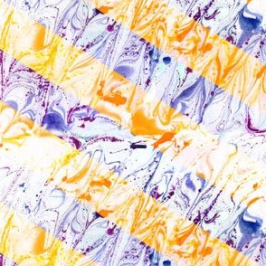 watercolor marble stripes orange-violet
