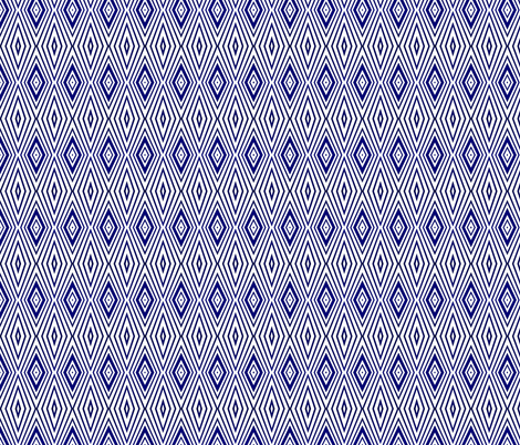 Blue and White Elongated Diamonds fabric by vickywestover on Spoonflower - custom fabric