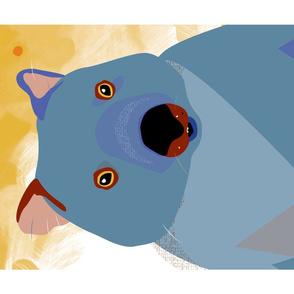 Wombat digi tea towel