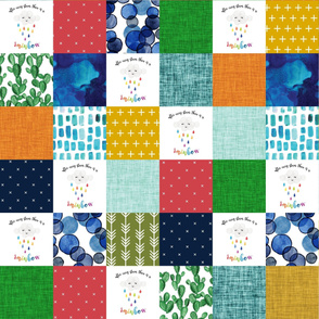 rainbow baby patchwork wholecloth // neutral colors