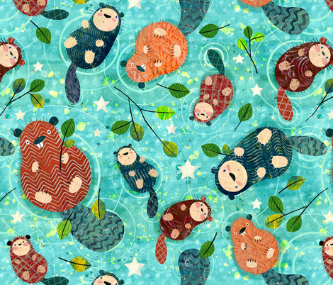 Significant Otters fabric by sarah_treu on Spoonflower - custom fabric