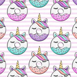 unicorn donuts - pink stripes