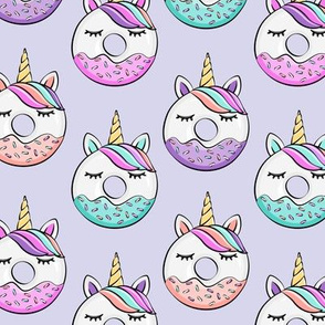 unicorn donuts (light purple)