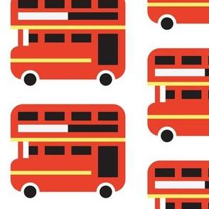 Double Decker Bus - White