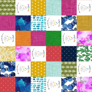 rainbow baby patchwork wholecloth // rotated