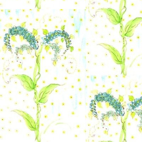watercolor blue forget me nots