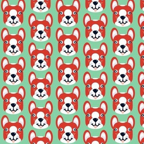 Kawaii Boston Terrier face in cute, silly style