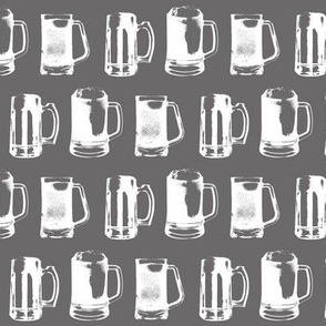 Beer Mugs on Grey // Small