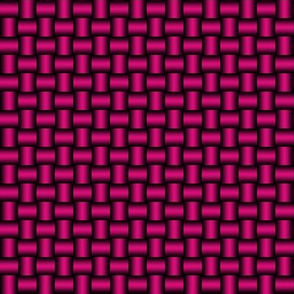 3D Metallic Woven Pipes - Hot Pink
