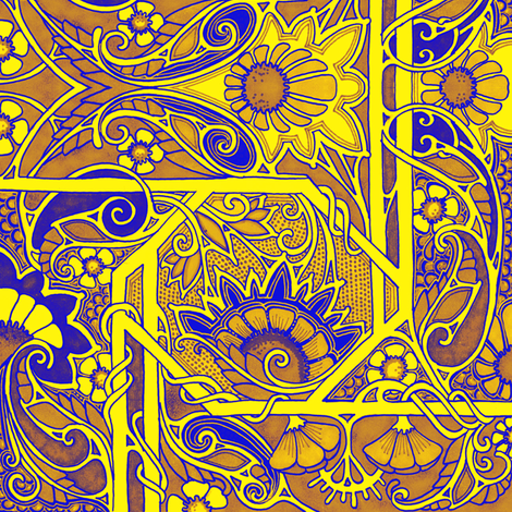 Gold in Them There Paisley Patch fabric by edsel2084 on Spoonflower - custom fabric