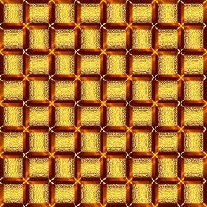 3D Woven Golden Squares