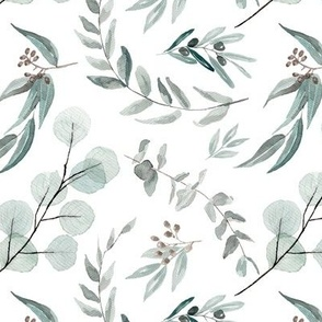 Australian Native Eucalyptus Leaves || Edition 1 || Australiana Fabric Wallpaper