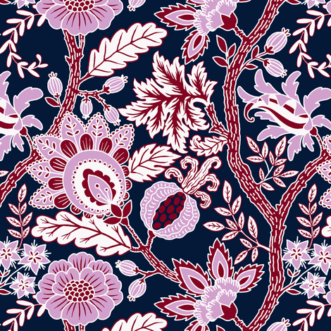 Dark Indienne fabric by maritcooper on Spoonflower - custom fabric