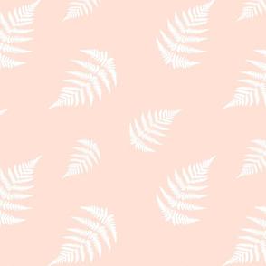 White Fern - Coral Background