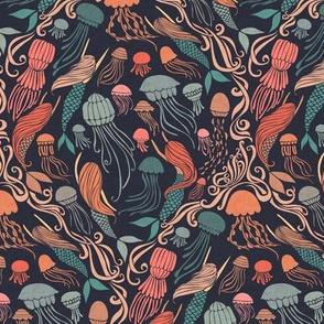 Mermaids and Jellyfish {Ink/Blush}