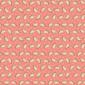 Taco food pattern peach by andrea lauren