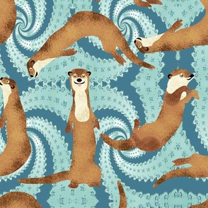 Otters love to Make Waves