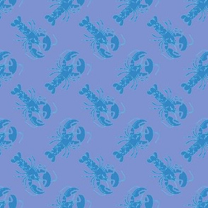 small lobster blue on blue