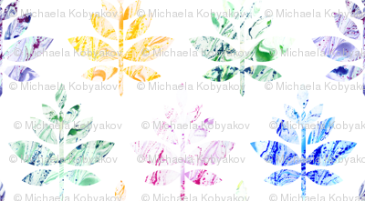 colorful marble leaves large