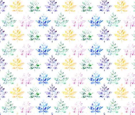 colorful marble leaves large fabric by michaelakobyakov on Spoonflower - custom fabric