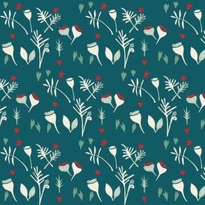 floral meadow-teal