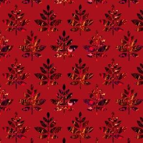 marble leaves dark red