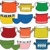 Vintage Kitchen Pots & Bowls
